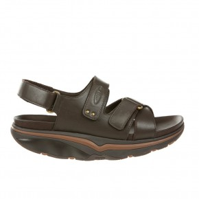 Rocco M Black Coffee Nappa MBT Sandalen